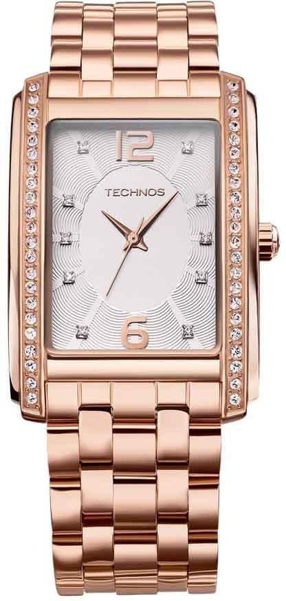 4e5570c9b7680 Relógio Technos Feminino Swarovski 2035ffl 4k - R  251,58 em Mercado ...