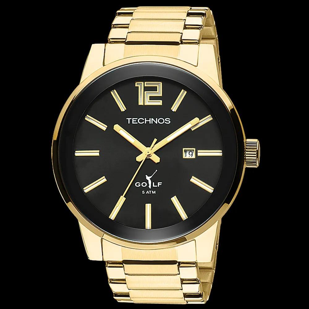 e3a64857522 relógio technos golf masculino analógico dourado 2115tt 4p. Carregando zoom.