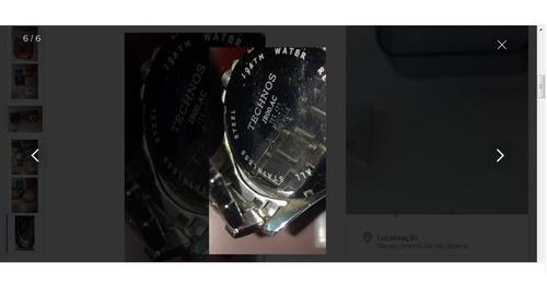 relógio technos jr00.ac completo caixa manual r$499,97