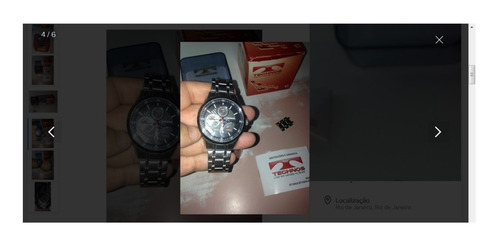 relógio technos jr00.ac completo caixa manual r$499,98