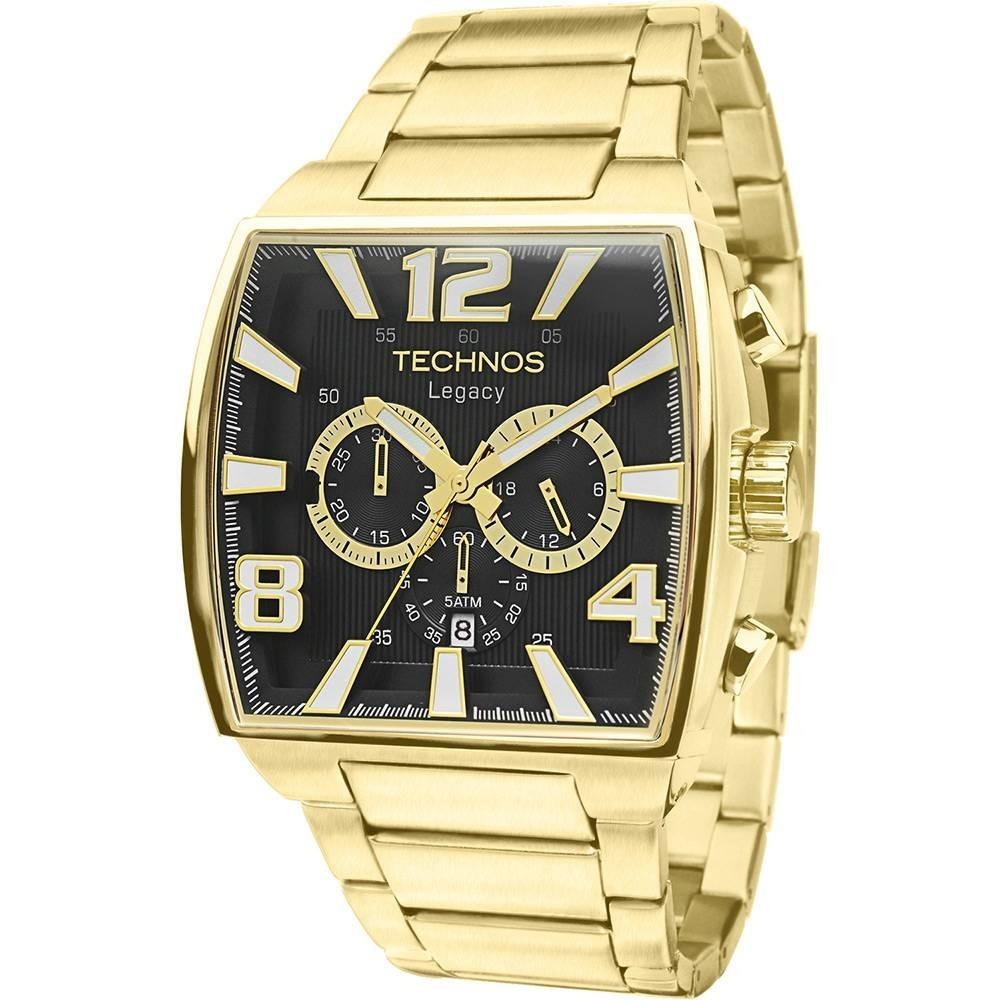 e204f87790a72 Relógio Technos Legacy Dourado Cronógrafo Js25ar 1d - R  582,89 em ...