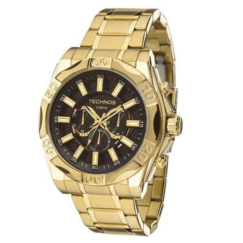 24f34b77a8e relógio technos legacy dourado js25bc 4p - cronógrafo. Carregando zoom.