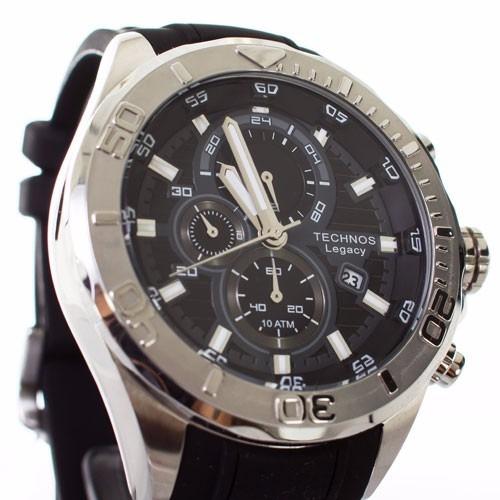 fdc6c229ec382 Relógio Technos Legacy Masculino Extra Grande Js15bb 8p Top - R  612 ...