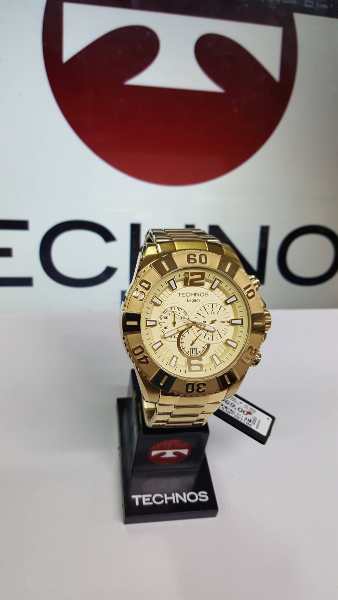 5aaa1edaa0bb1 Relógio Technos Legacy Os20ib Dourado Caixa Grande - R  590,00 em ...
