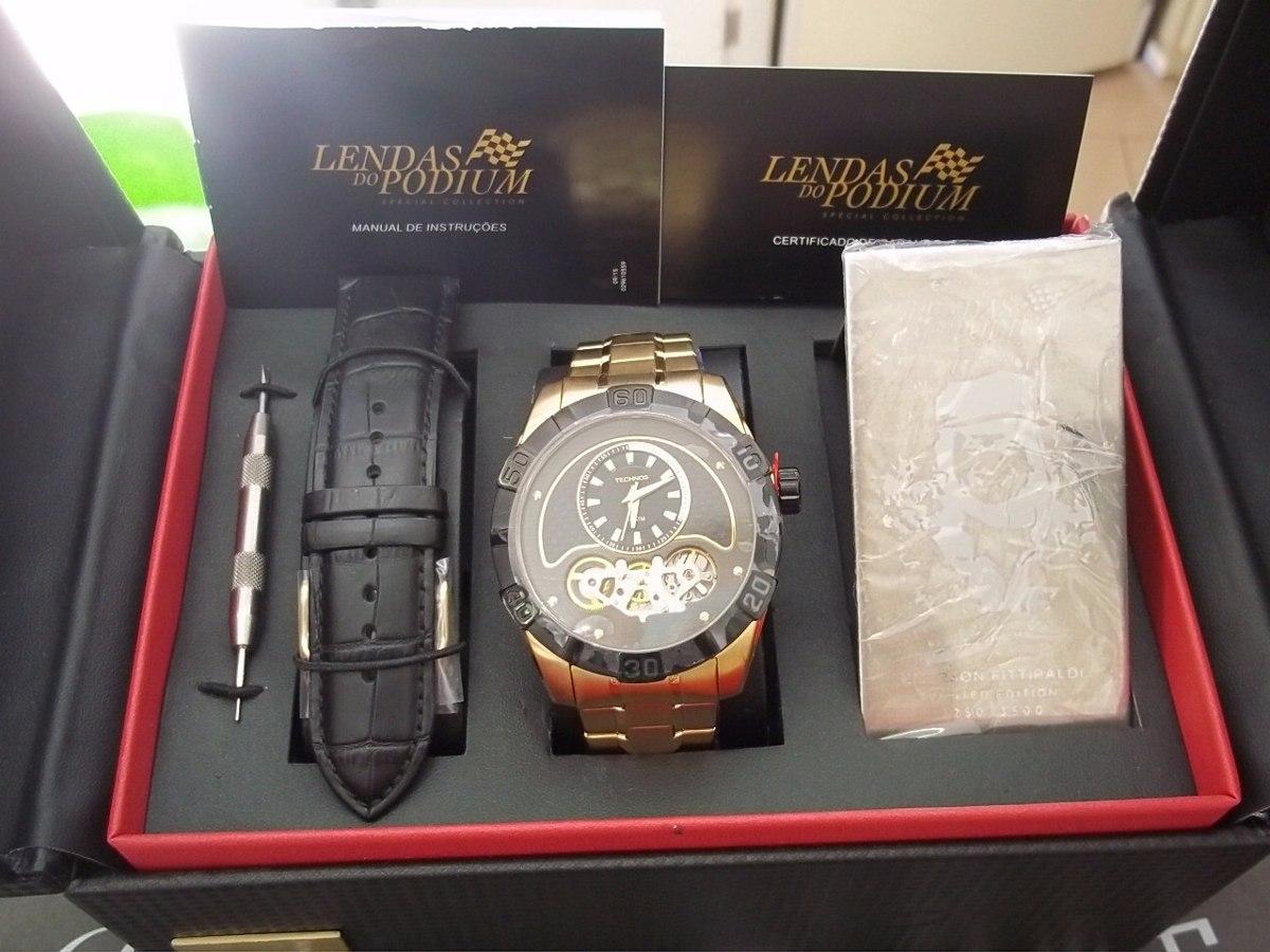 30bd1ef9851 Relógio Technos Lendas Do Podium Emerson Fittipaldi - R  1.239
