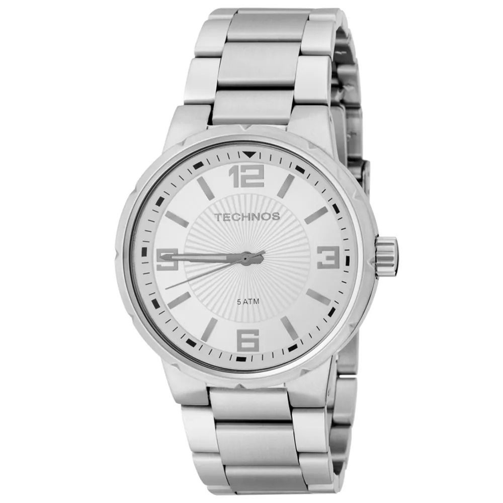37797824b742c relógio technos masculino 2035ccj 1k pulseira aço original. Carregando zoom.