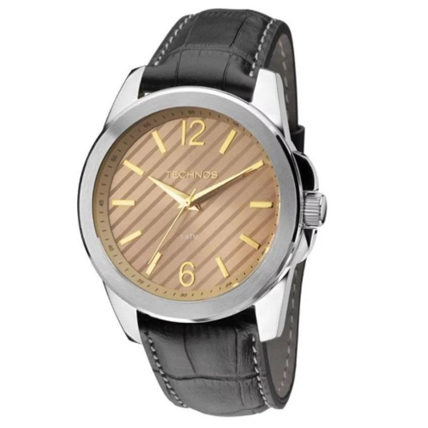 285851a99ad relógio technos masculino 2035mey 0m prata pulseira de couro. Carregando  zoom.