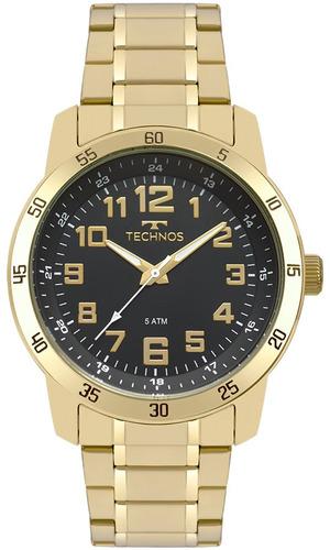 relógio technos masculino 2035mnx/4p dourado barato oferta