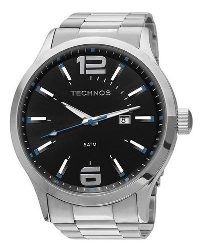 relógio technos masculino 2115gu/1a detalhe azul ou vermelho