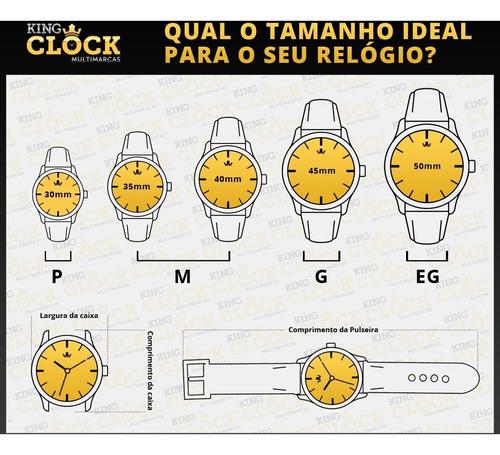 relógio technos masculino 2115ksr/8l com nf