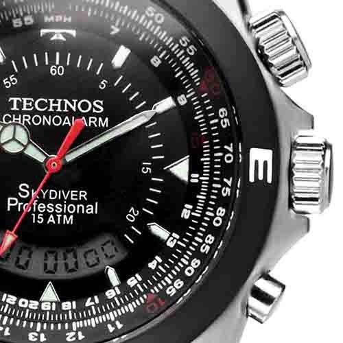e229900cd61 Relógio Technos Masculino Skydiver Pilot T20561 8p Anadigi - R  589 ...