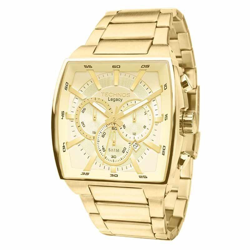 584224f226e Relógio Technos Masculino Legacy Js25al 4x Dourado Oferta - R  758 ...
