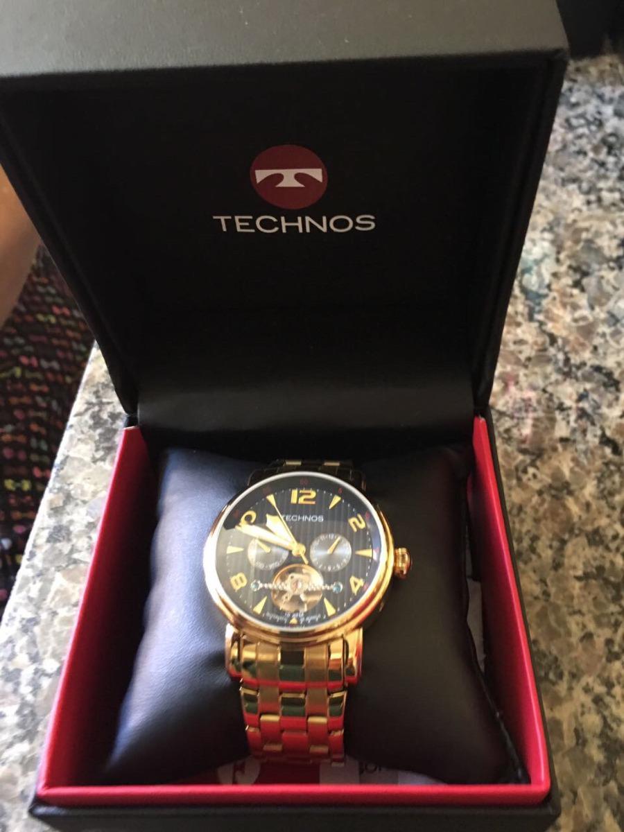 7fb6ac40c1e Relógio Technos Masculino Pulseira Dourada - Usado Uma Vez - R  550 ...
