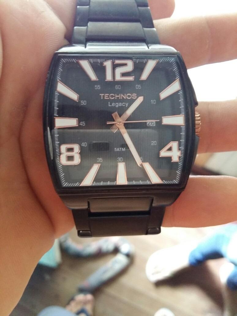 24df122f5bb Relógio Technos Legacy Preto Masculino A Prova D agua - R  520