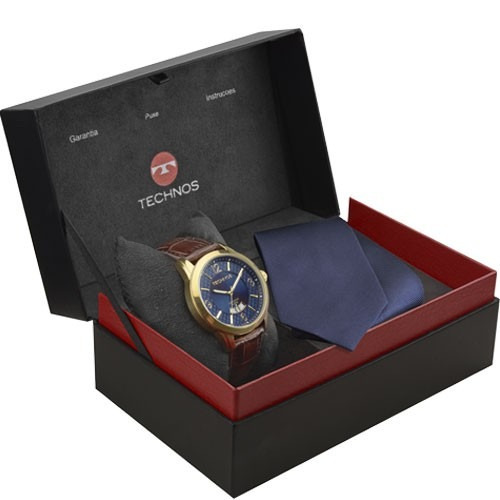 Relógio Technos Masculino Executive 2115ksb K0a Azul Dourado - R ... 92ae85c4d5
