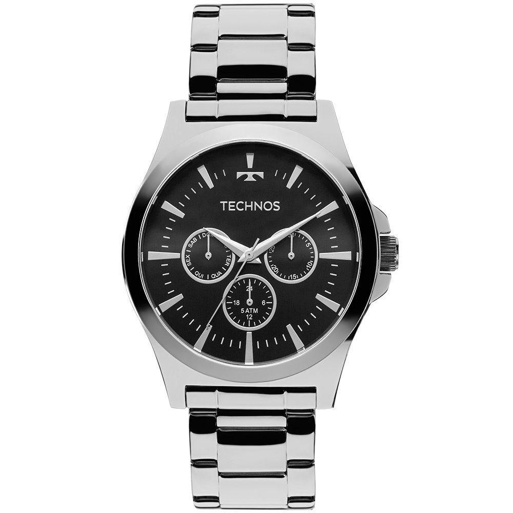Relógio Technos Masculino Steel Prata 6p29ajk 1p - R  289,90 em ... 2204bda4b2