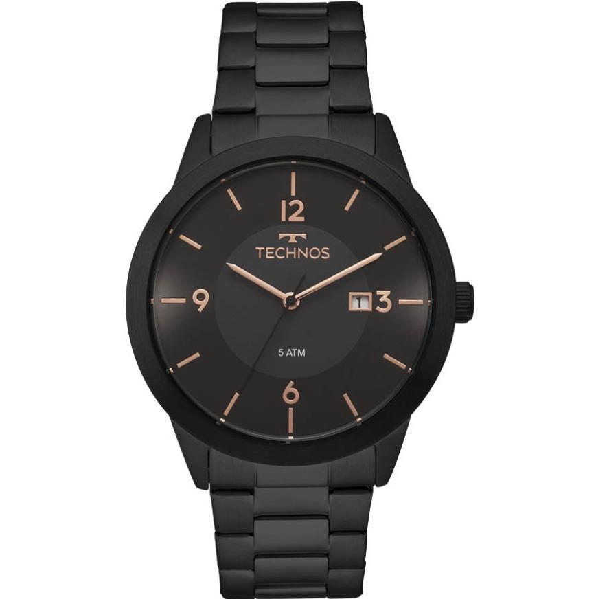 720f45a3557 Relógio Technos Preto Masculino Classic Steel 2115moh 4p - R  279