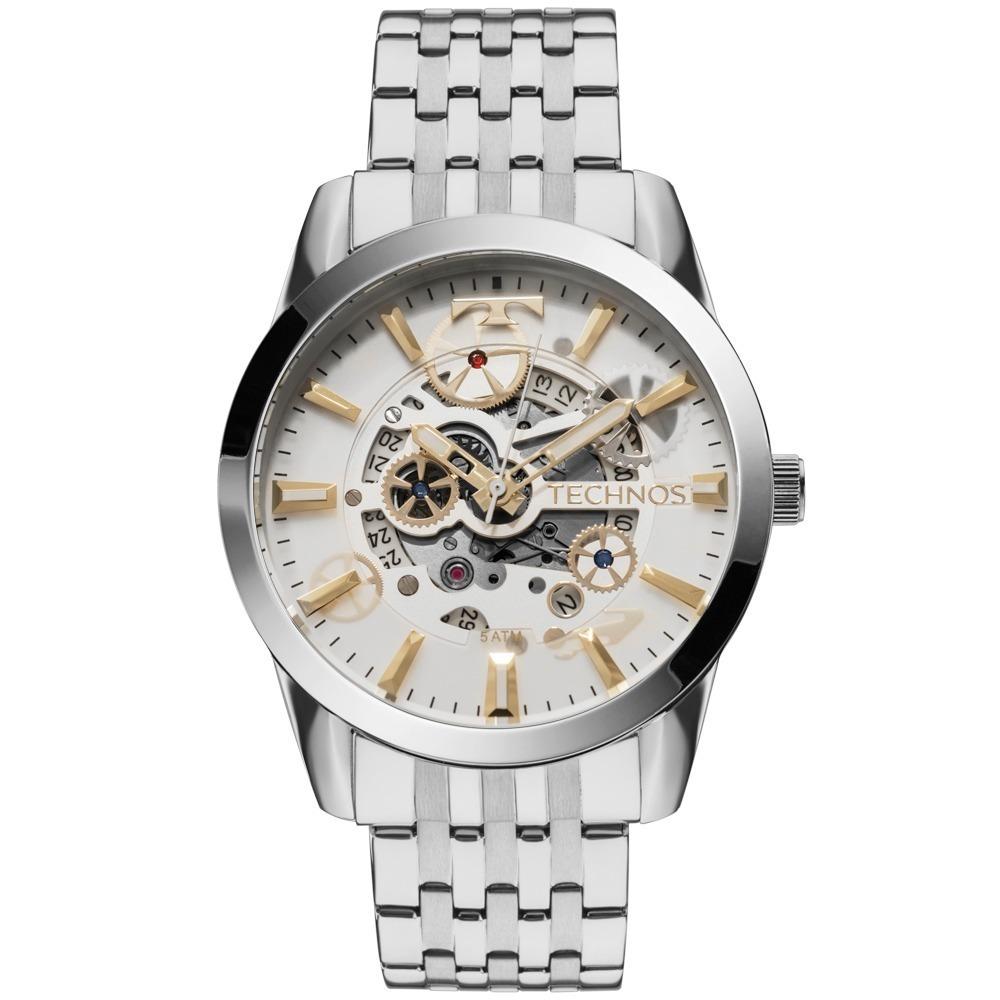 90ec4bbb620 Relógio Technos Masculino Automático Esqueleto 8205nr 1k - R  639