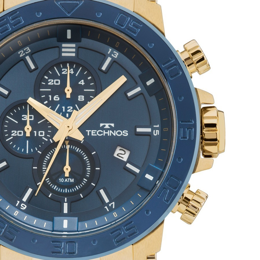 9e0b99d7d01 Relógio Technos Masculino Legacy Dourado Azul Nfe Js15er 4a - R  475 ...