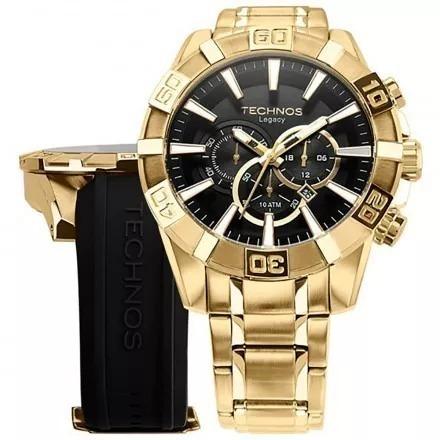 612fb3cb528 Relógio Technos Masculino Dourado Legacy Os2aajac 4p + Nf - R  1.099 ...