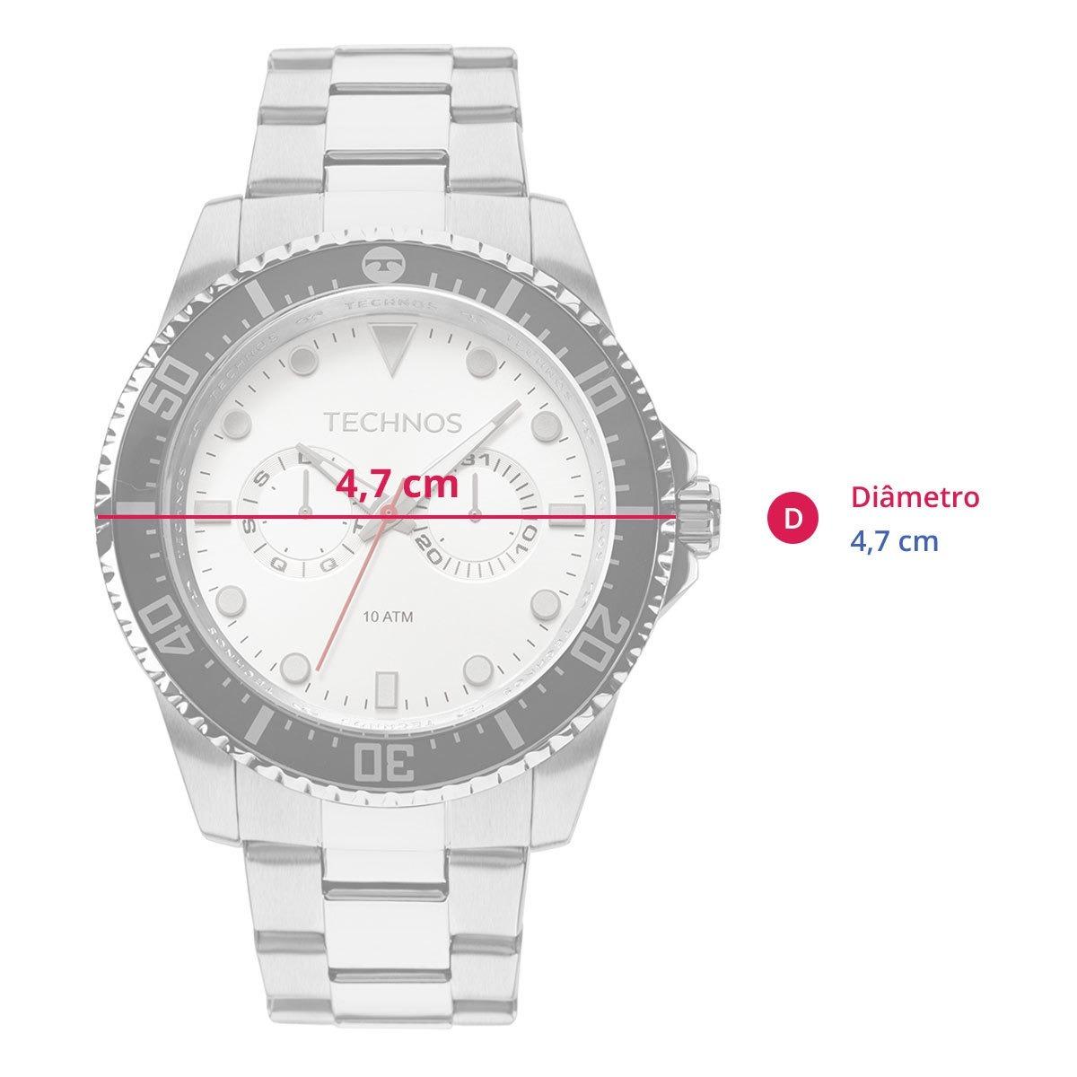 Relógio Technos Skymaster Masculino Prata Analógico 6p25bm 1 - R ... df15b7b51d