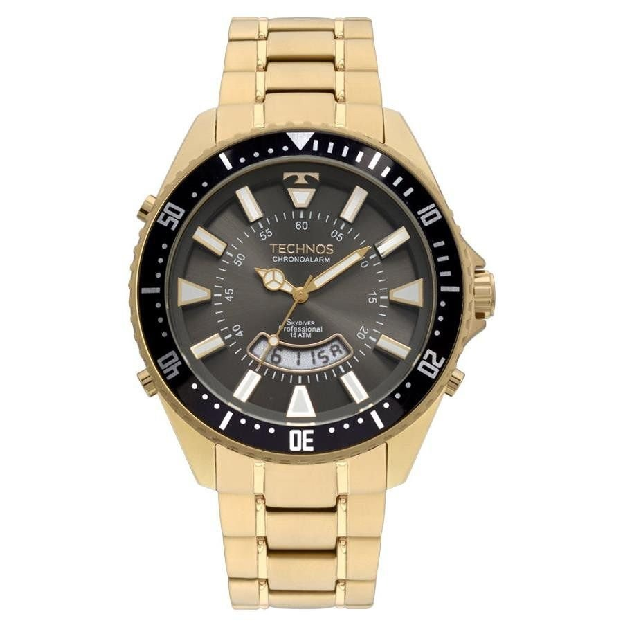 Relógio Technos Masculino Ref  T205ji 4c Skydiver Dourado - R  449 ... 6ea5319b91