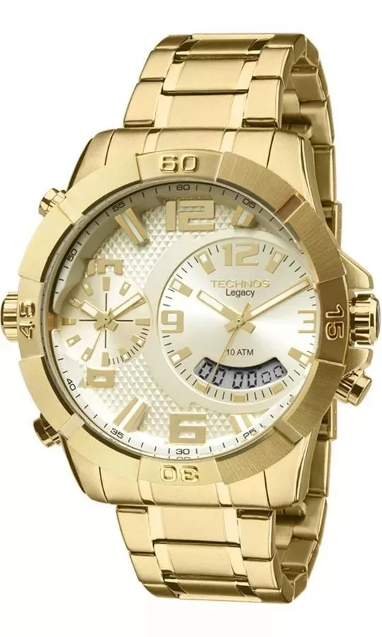 c260ed97174 Relógio Technos Masculino Dourado Legacy T205fi 4x Com Nf