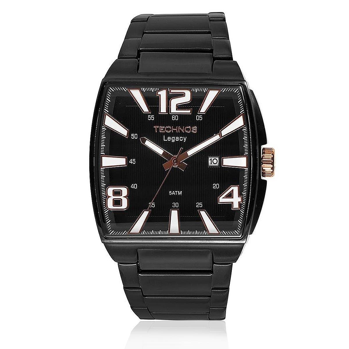 b16d2fe112f Relógio Technos Masculino Quadrado Preto Grande 2315abf 1p - R  494 ...