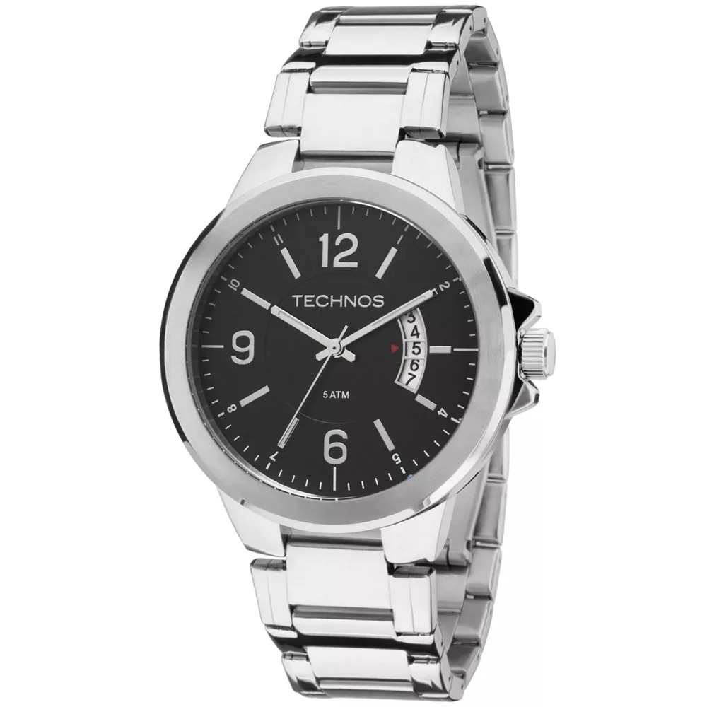 91f67f2302a Relógio Technos Masculino Classic Steel Analógico 2115ksk 1p - R ...