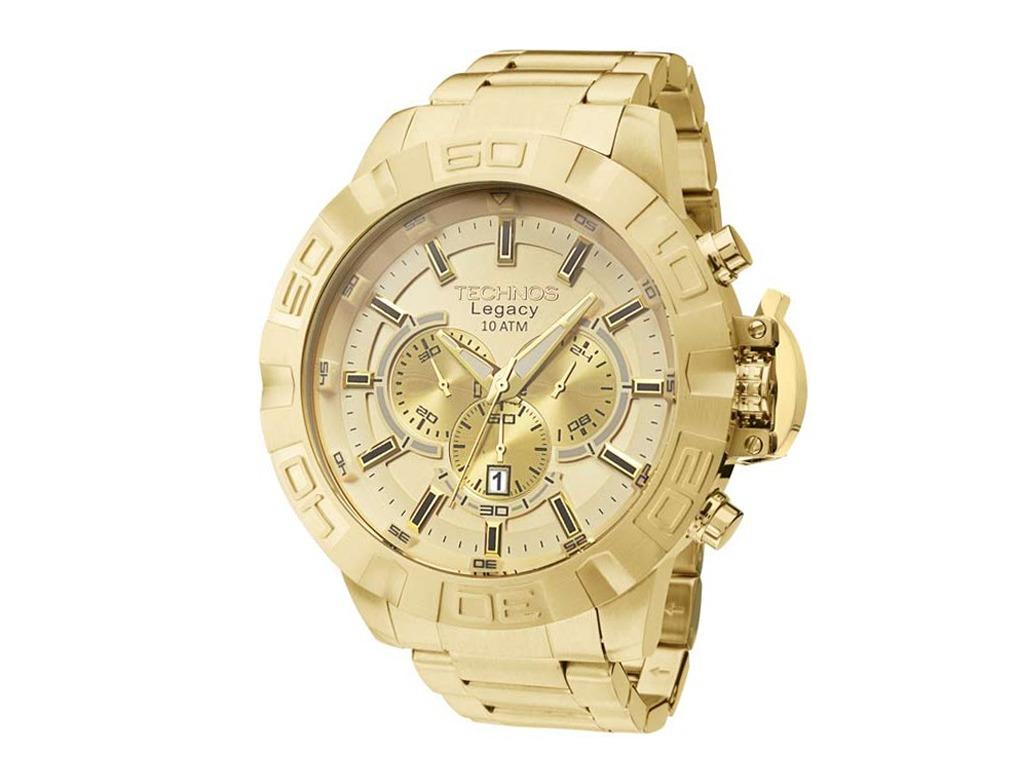 605d0e6ea3fcc Relógio Technos Legacy Dourado Masculino - R  1.589,06 em Mercado Livre