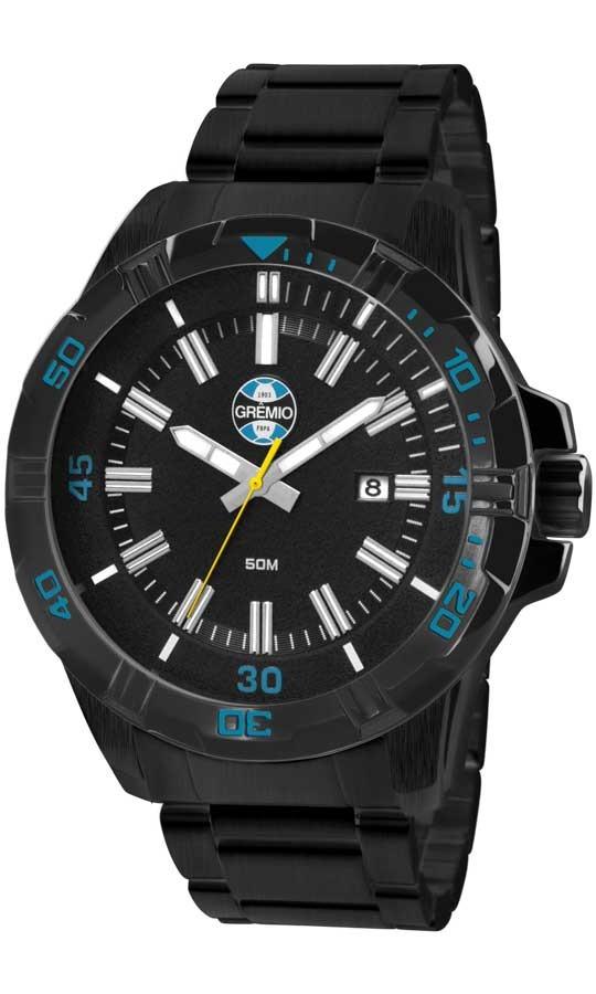 Relógio Technos Masculino Gremio Gre2315ad 4p Preto - R  268,00 em ... ca4d9361cd