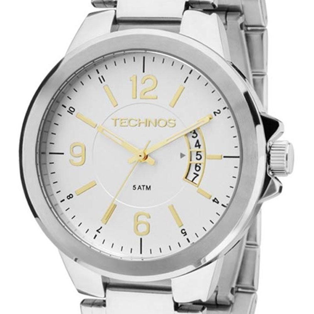 2d02ed0a6de90 Relógio Technos Masculino Analógico 2115ksk 1c - Prata - R  219,90 em  Mercado Livre