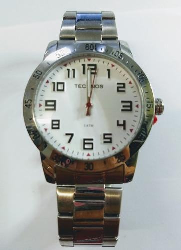 relógio technos masculino a prova d'água c/ números grandes
