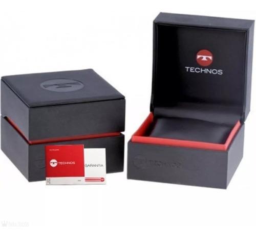 relógio technos masculino aço 2115knv/1p
