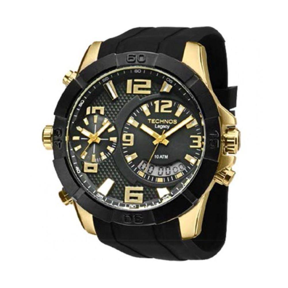 Relógio Technos Masculino Anadigi Legacy T205fj 8p Dourado - R  810,90 em  Mercado Livre b9d1ff5249