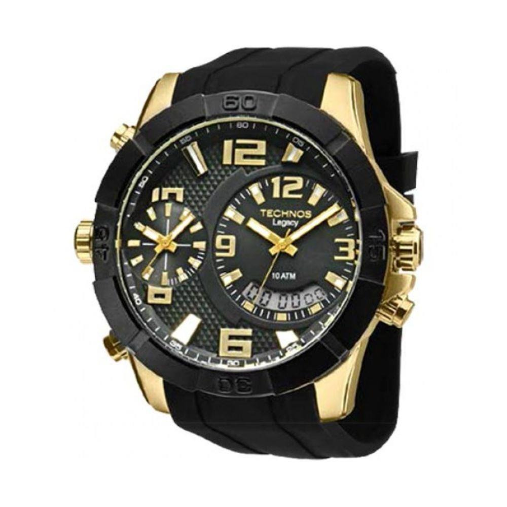 76e8c624605 Relógio Technos Masculino Anadigi Legacy T205fj 8p Dourado - R  810 ...