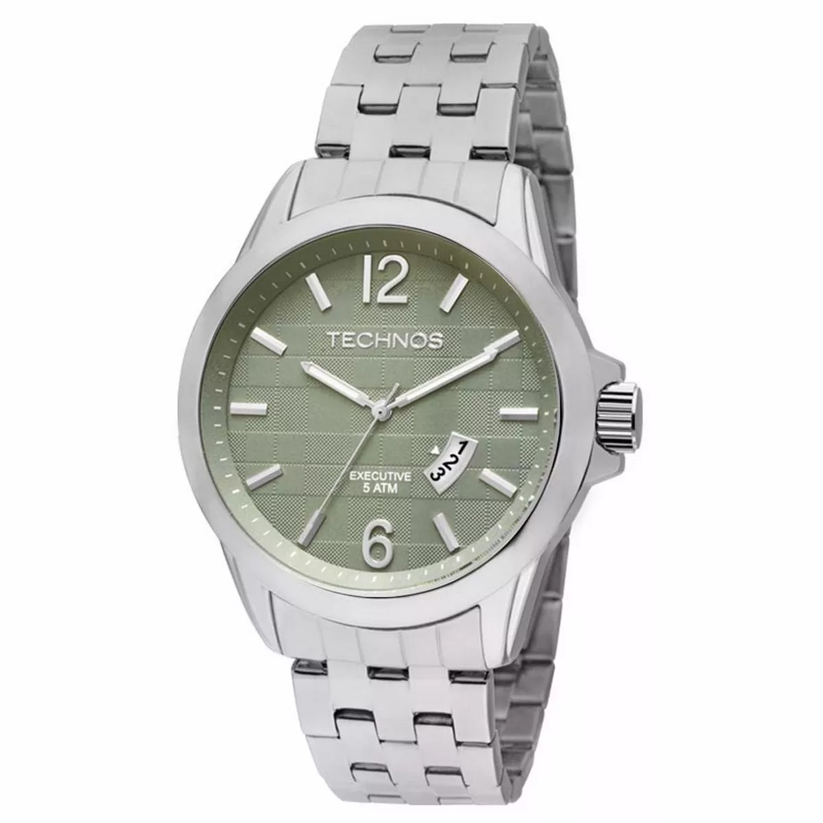 6699b625b20 relógio technos masculino analógico prata 2115krp 3v aço. Carregando zoom.