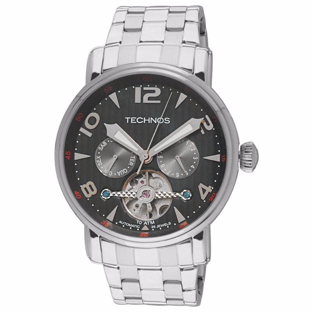 Relógio Technos Masculino Automático 2l27aa 1p Esqueleto - R  949,00 em  Mercado Livre c04217c61c