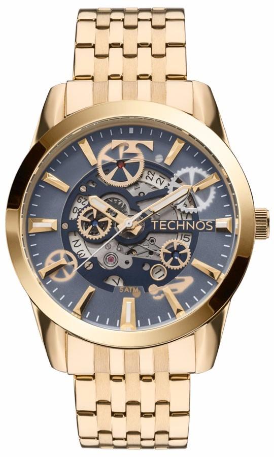 relógio technos masculino automático 8205nq 4a esqueleto off. Carregando  zoom. b0554bca0f