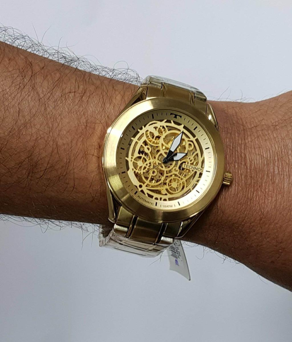 776ed349f885f relógio technos masculino automático dourado 8n24ah 4x. Carregando zoom.