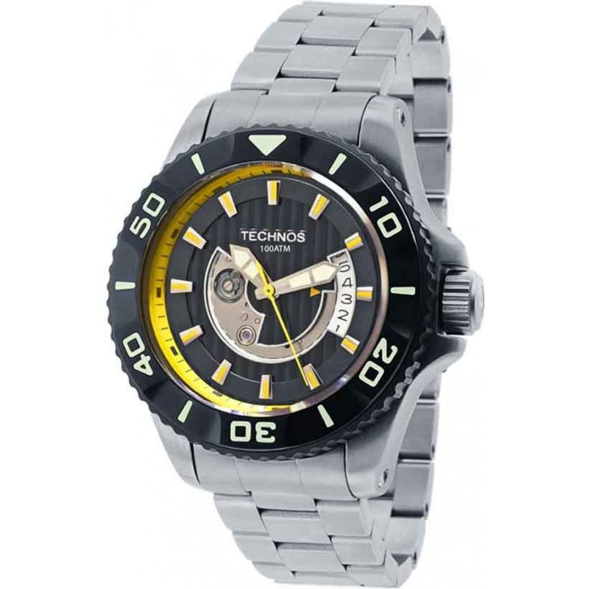 885faf95e02 relógio technos masculino automático titânio acqua 8215ah 5y. Carregando  zoom.