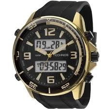 relógio technos masculino  bjf059ac/8p.frete gratis
