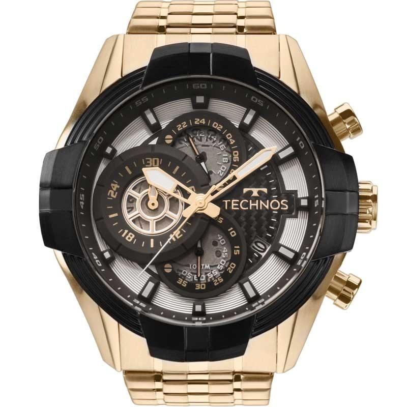 ea5b76494db94 relógio technos masculino carbon preto e dourado js15ew 4p. Carregando zoom.