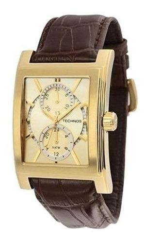 relógio technos masculino classic 6p23ag/2x original barato