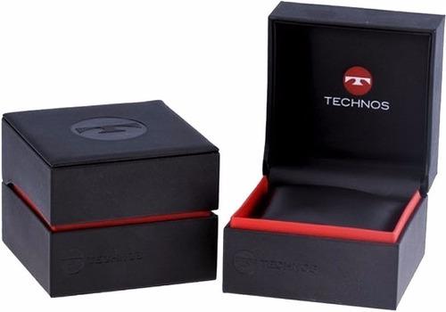 relógio technos masculino classic steel 2115mou/2p original