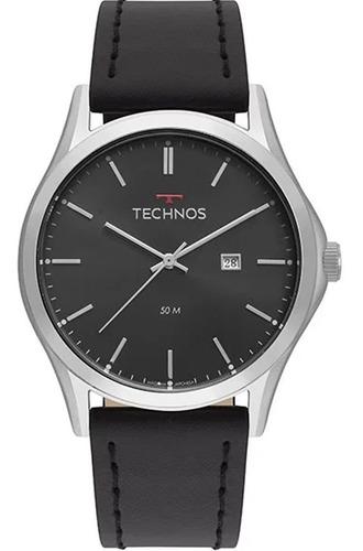relógio technos masculino classic steel 2115msg/0p