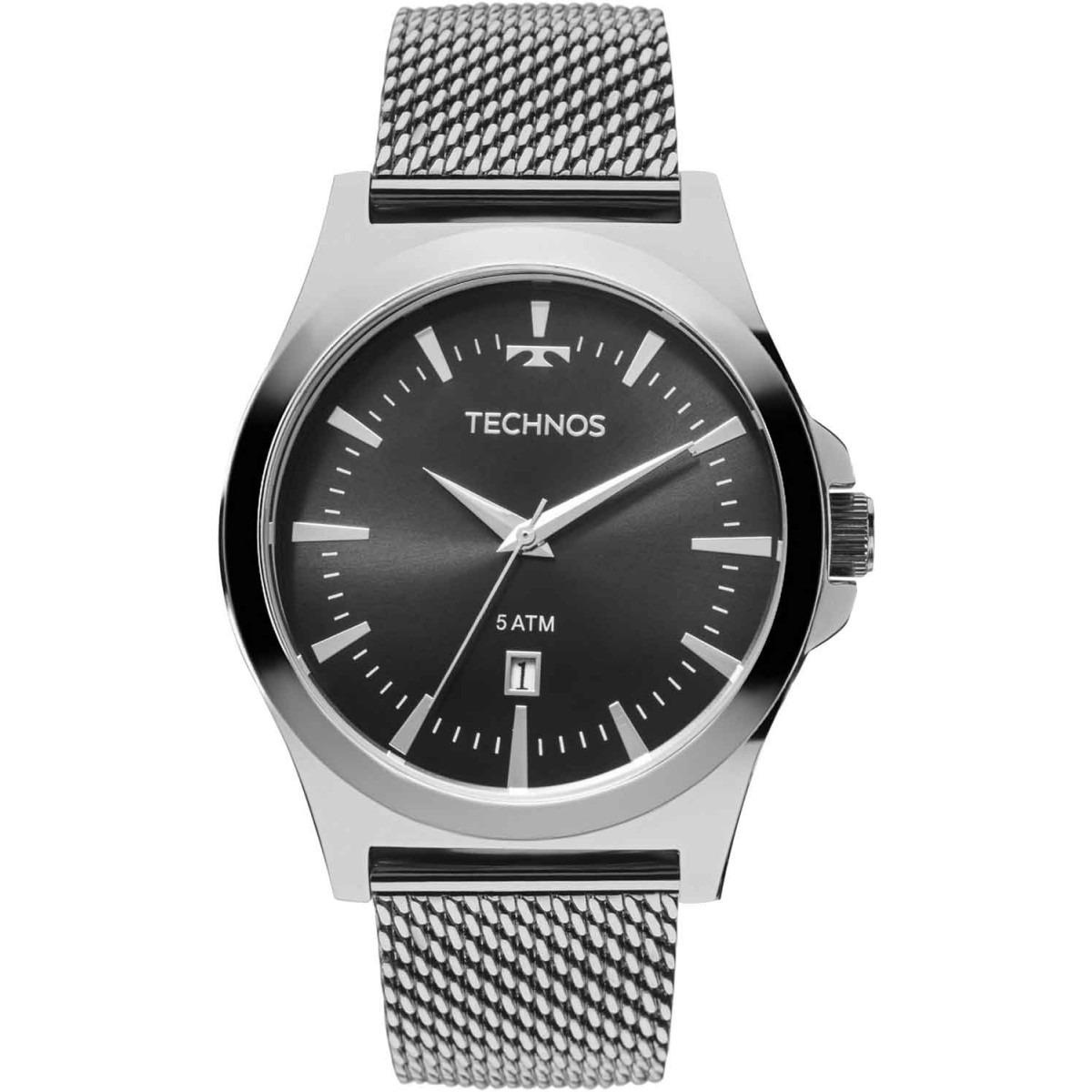 Relógio Technos Masculino Classic Steel Analógico 2115lal 0p - R ... caa130e3f5