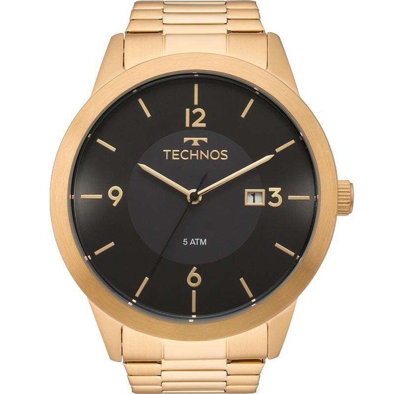 d0ecc553a00 relógio technos masculino classic steel dourado 2115mof 4p. Carregando zoom.