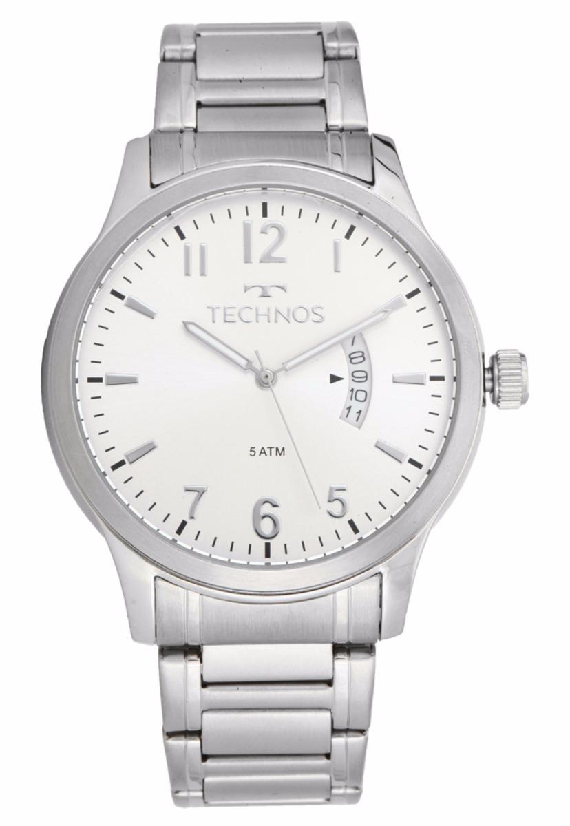 relógio technos masculino classic steel prata 2115ktn 1k. Carregando zoom. d9148d66c9