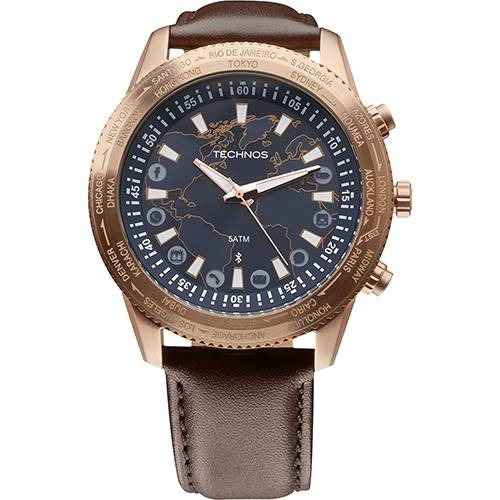 relógio technos masculino connect 753ad/2a